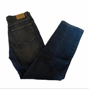 MENS WINDRIVER Blue Wide Leg Dark Stone Wash Denim